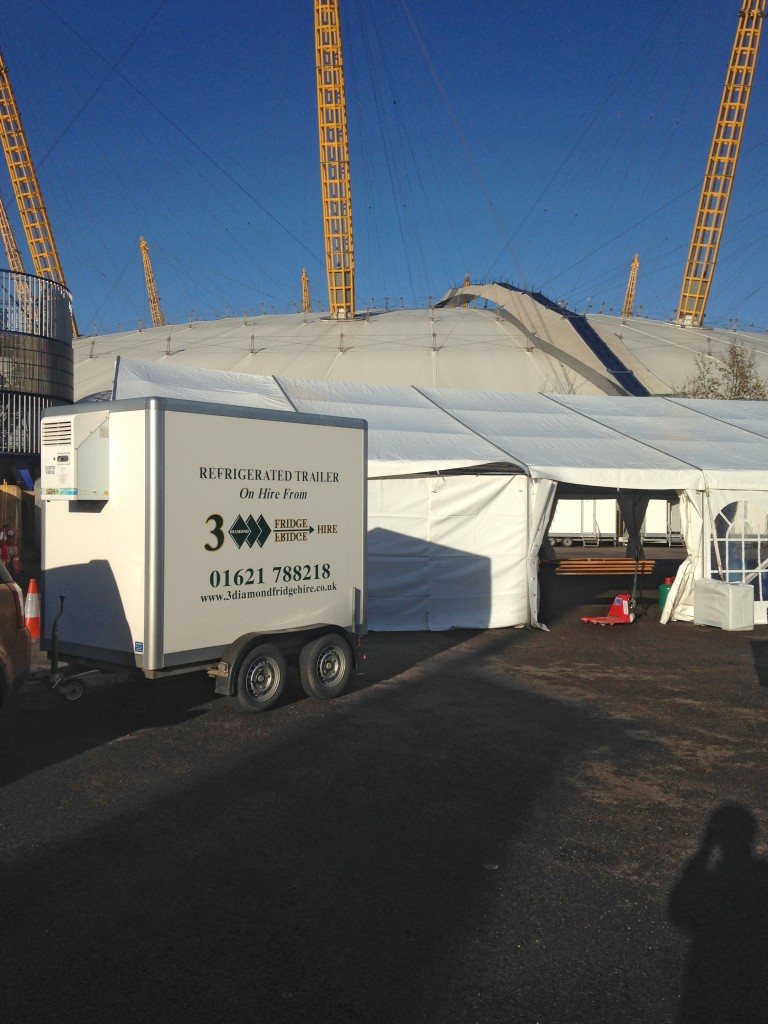 Mobile Fridge Freezer Trailer Hire Installed At The O2